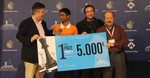 Aravindh Chithambaram wins Sunway Sitges 2017, crosses 2600!